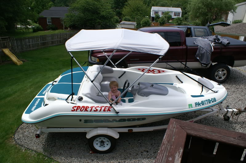 1998 Sea Doo Sportster With A Single 85 Hp Pulling An Adult Tuber
