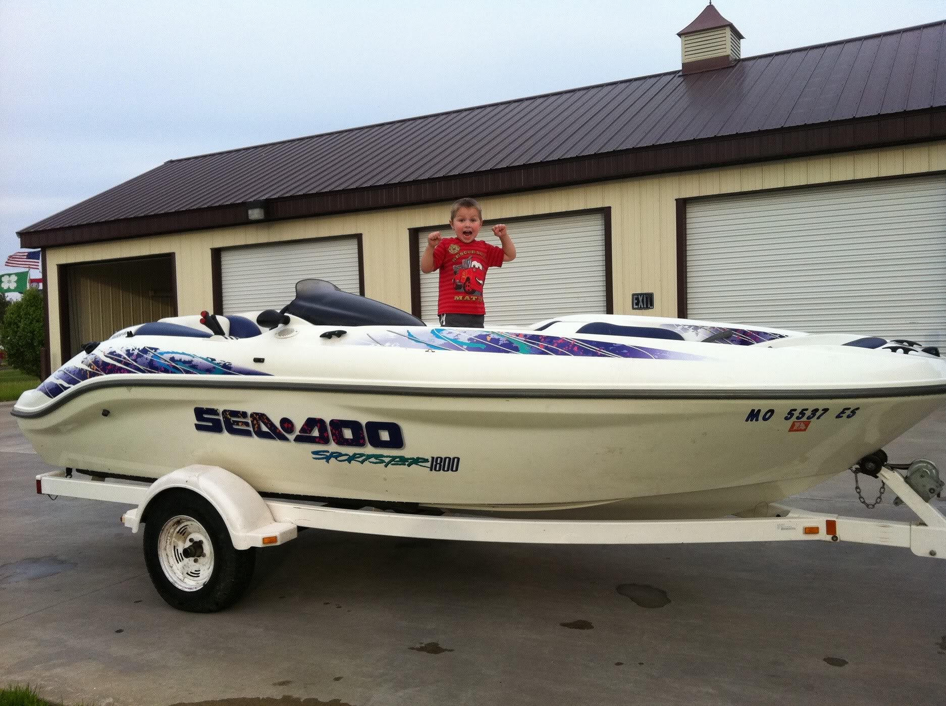It's a 1998 Seadoo Sportster 1800. The boat is in great shape both interior  and exterior (original owner always kept covered and garaged).